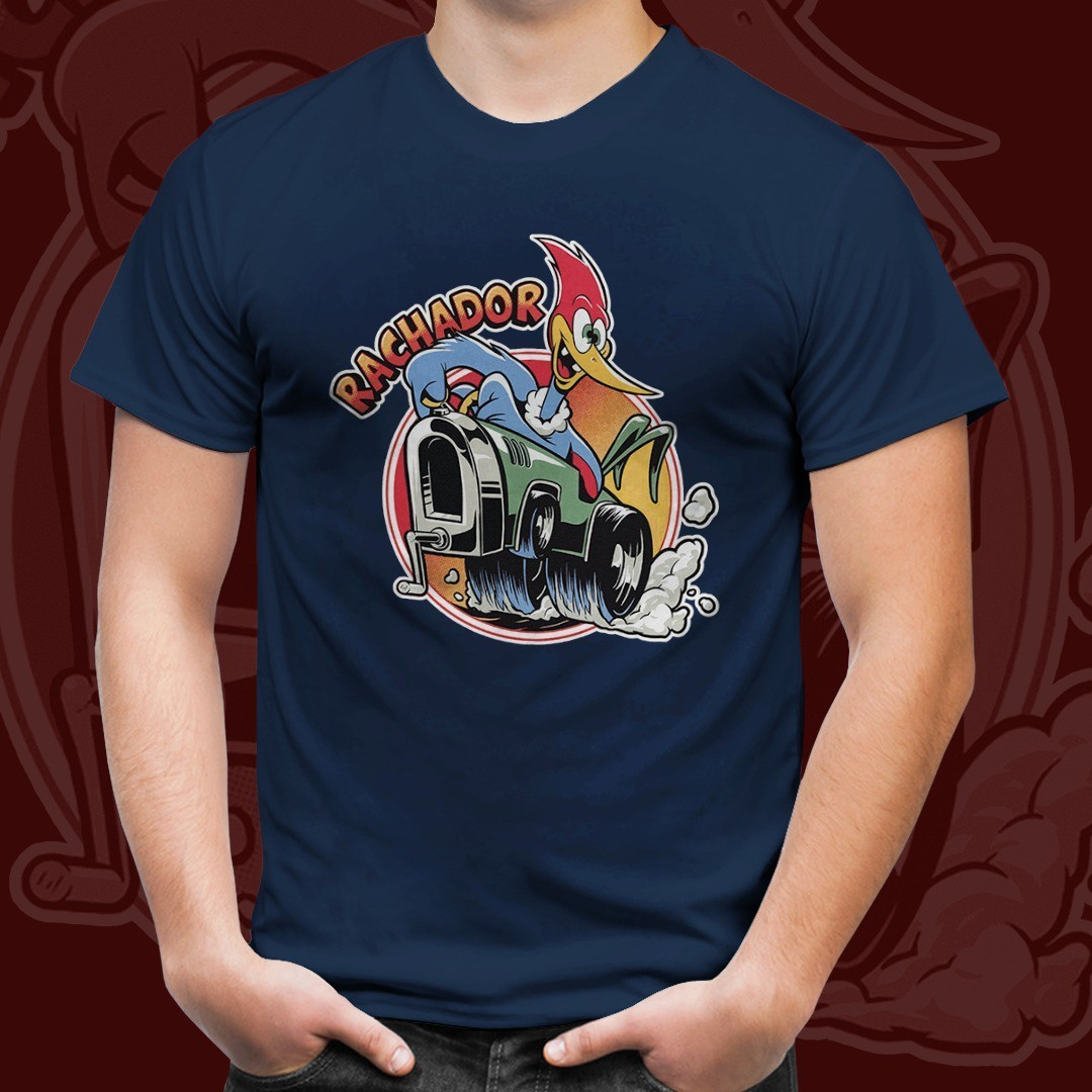 "Camiseta ""Rachador"": Pica-Pau (Azul)"