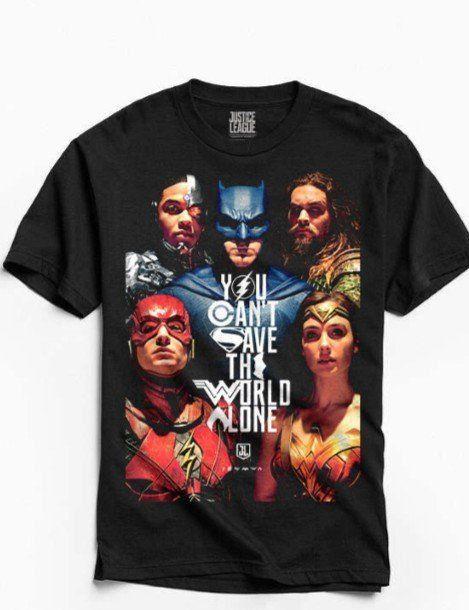 Camiseta Poster Justice League: Liga da Justiça (Justice League) Preta - BandUP!