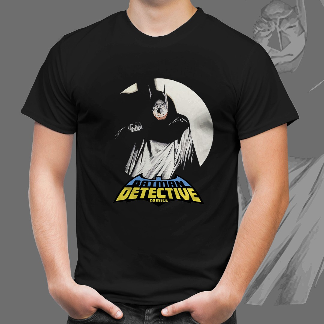 Camiseta Preta Unissex Batman Detective