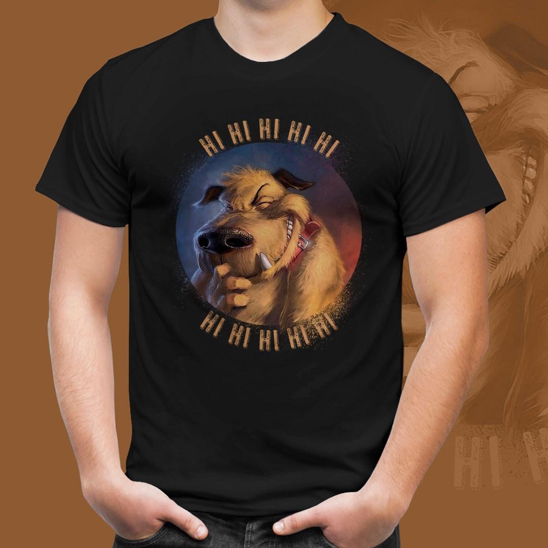 "Camiseta Preta Unissex Muttley ""HI HI HI HI HI"""