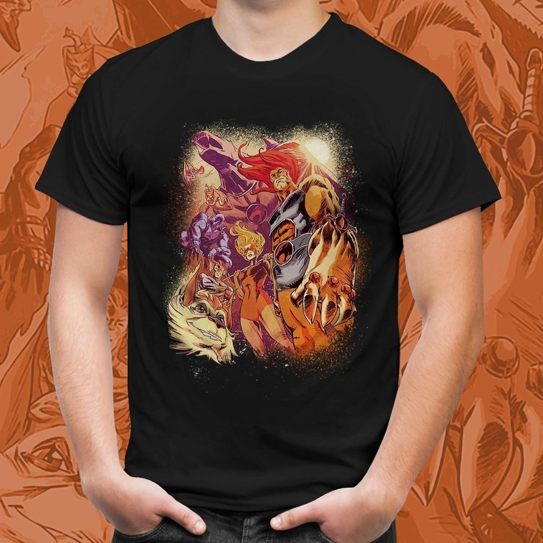 Camiseta Preta Unissex Personagens Thundercats