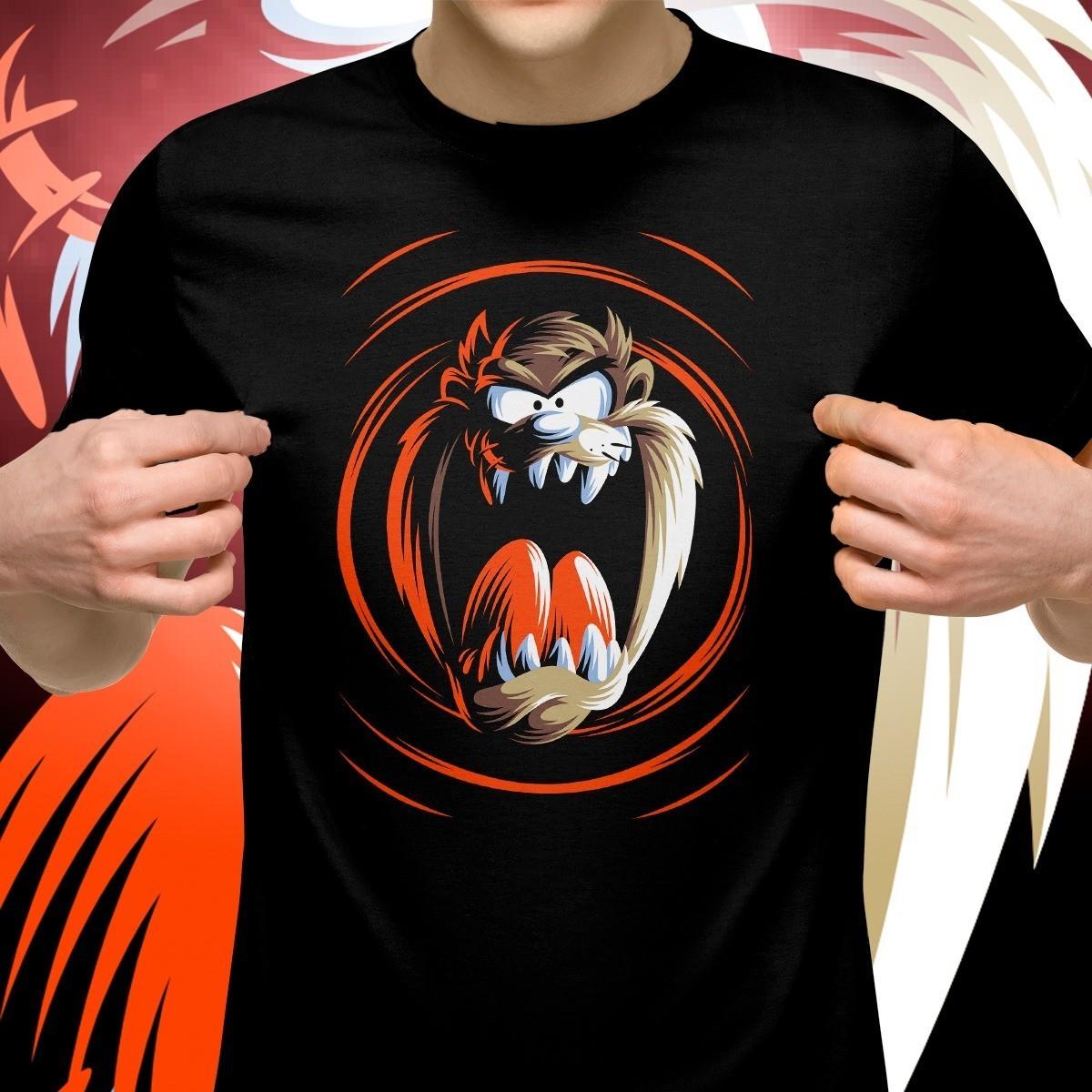 Camiseta Preta Unissex Taz-Mania: Taz o demónio da Tazmania