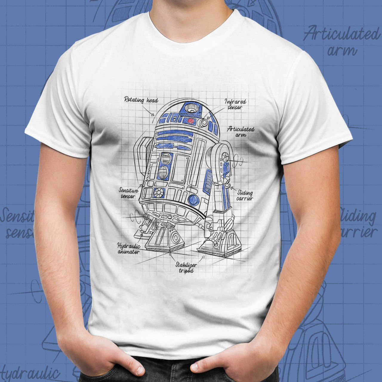 Camiseta Unissex R2-D2: Star Wars