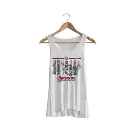Camiseta Regata Feminina Vingadores Era de Ultron Faixas - Studio Geek