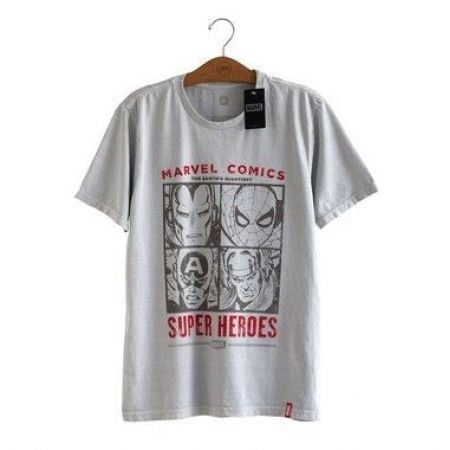 Camiseta Rostos Marvel Comics - Studio Geek