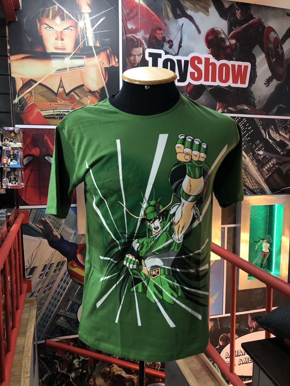 Camiseta Shiryu de Dragão: Cavaleiros do Zodíaco