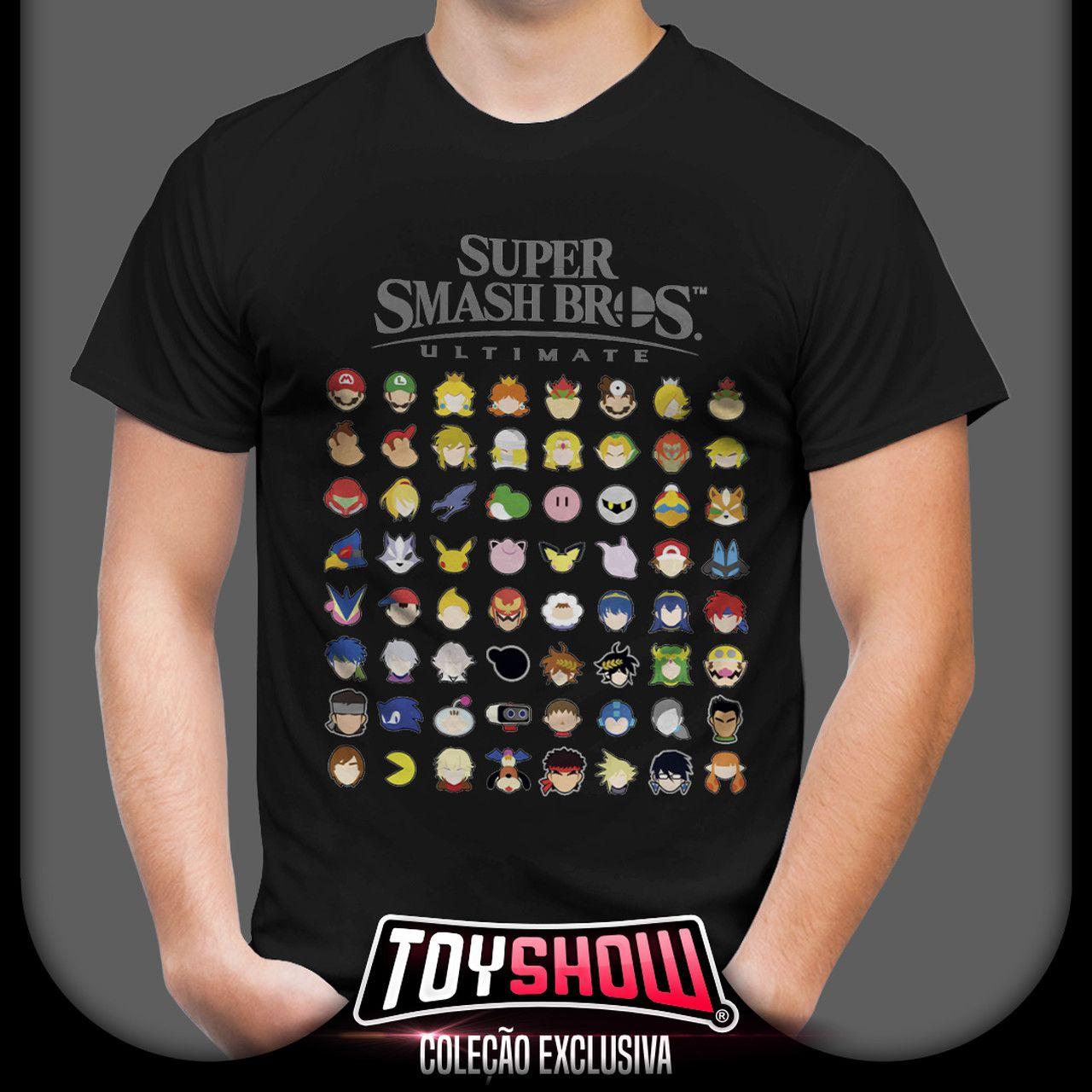 Camiseta Unissex Smash Bros Ultimate: Super Mario Bros - Exclusiva Toyshow