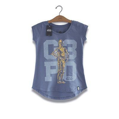 Camiseta Star Wars C-3PO Feminina - Studio Geek