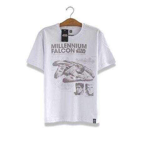 Camiseta Star Wars Millennium Falcon Branca - Studio Geek