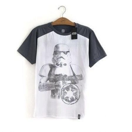 Camiseta Star Wars Stormtrooper Cinza - Studio Geek