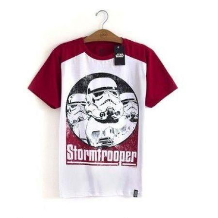 Camiseta Star Wars Stormtrooper Vermelha - Studio Geek
