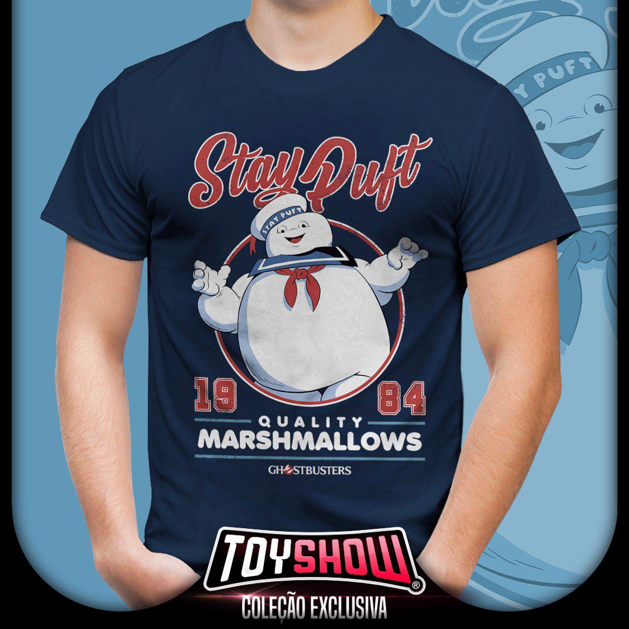Camiseta Unissex Stay Puft: Os Caça-Fantasmas (Ghostbusters)