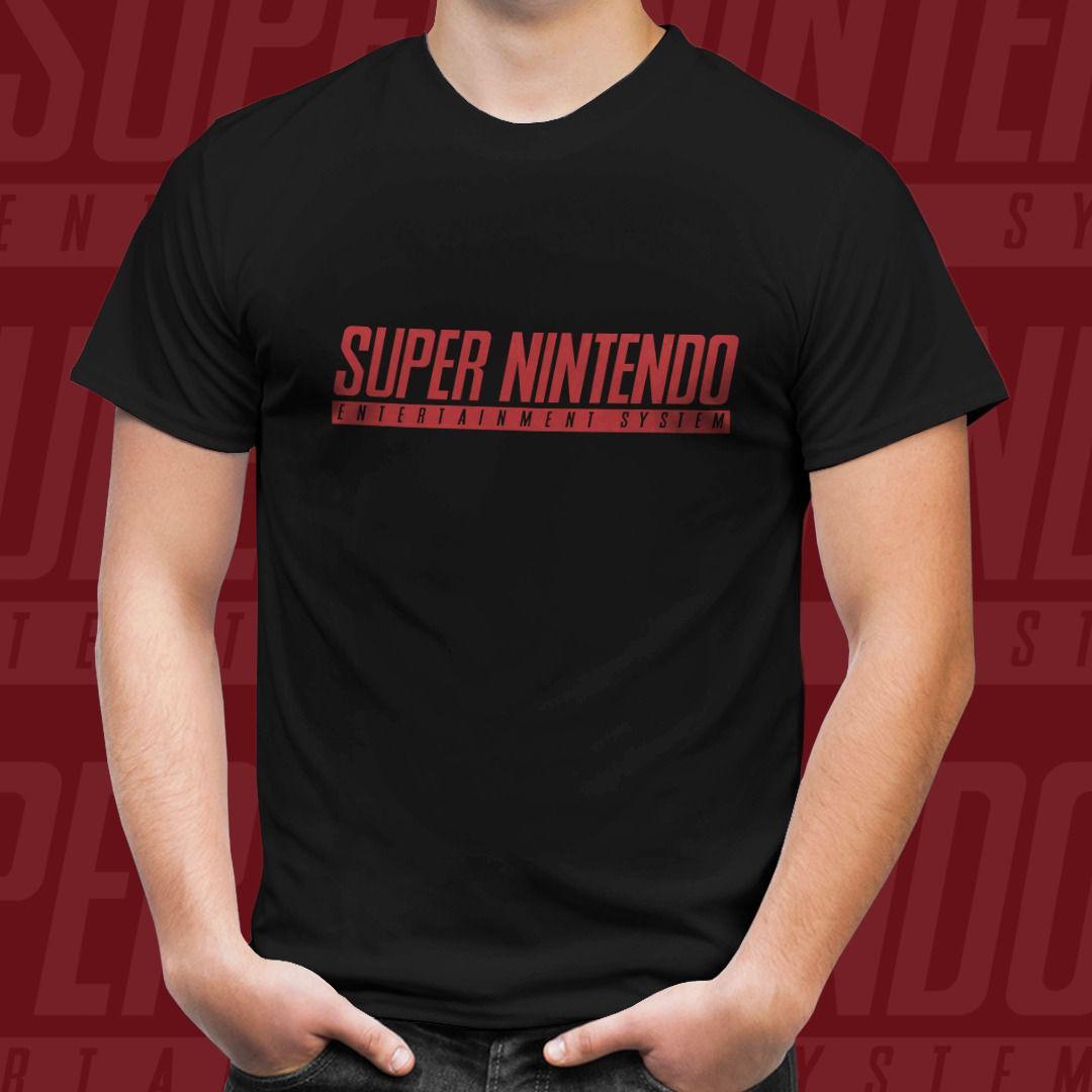 Camiseta Super Nintendo (Preto)