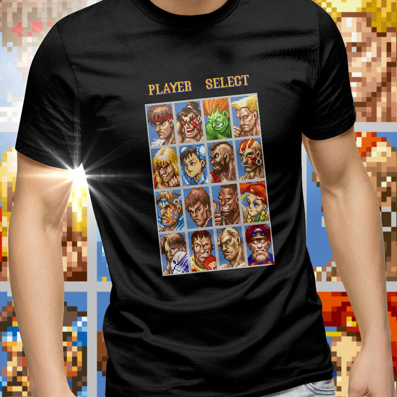 Camiseta Super Street Fighter 2 (Player Select) - Exclusiva ToyShow