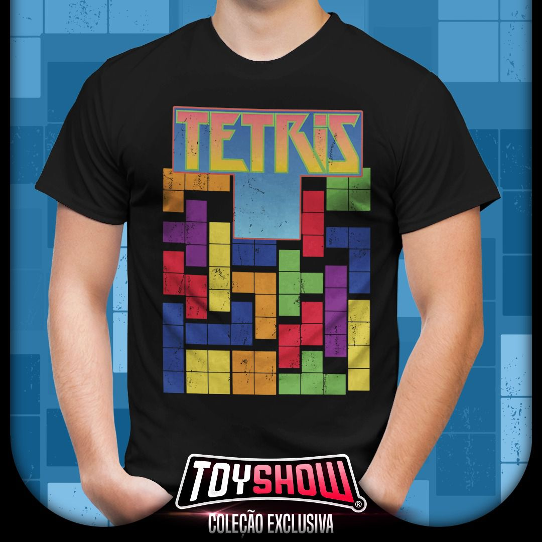 Camiseta Tetris - Exclusiva Toyshow