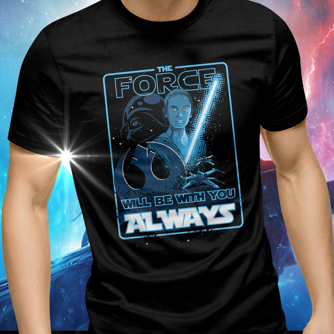 Camiseta Unissex The Force Will Be With You Always: Star Wars - Exclusiva Toyshow