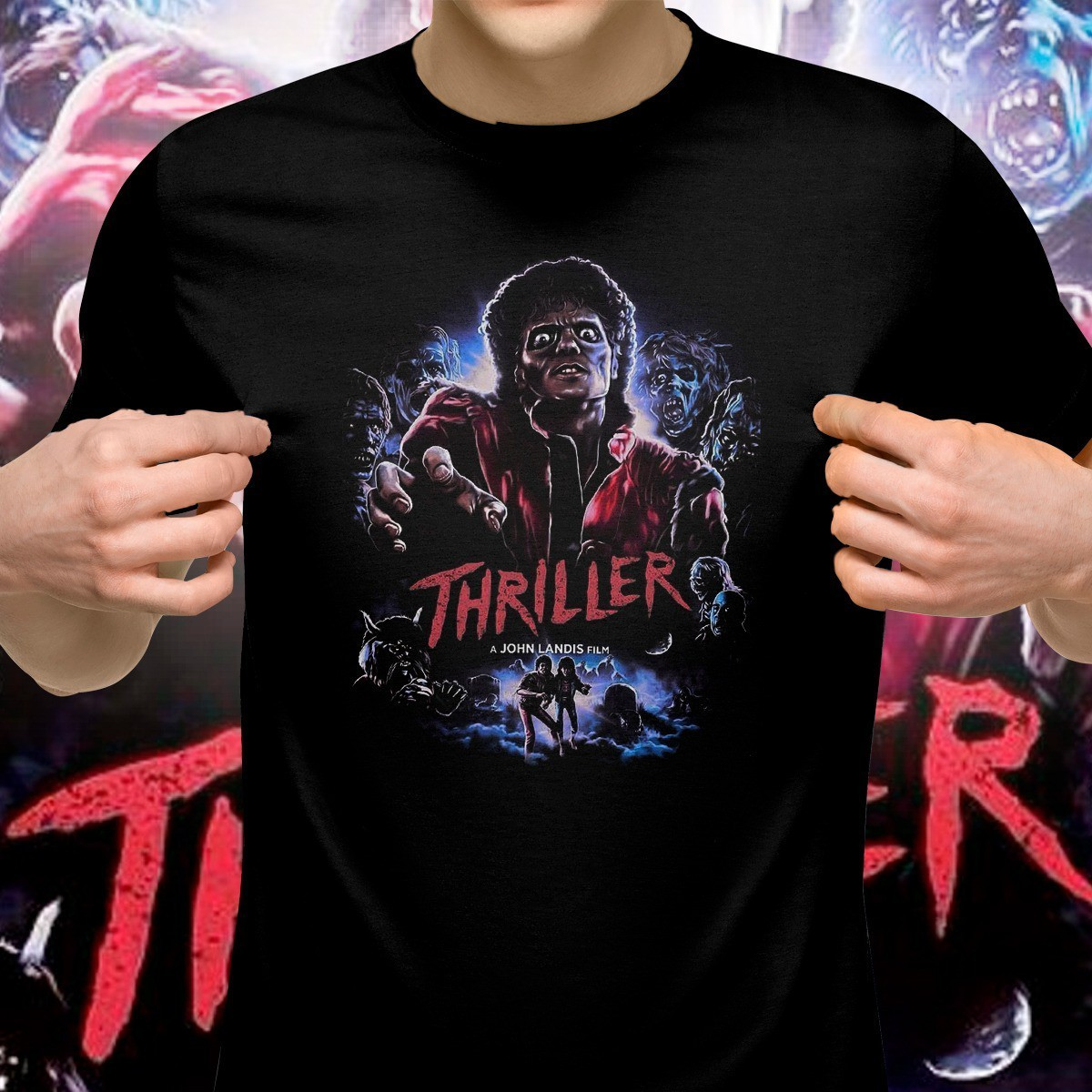Camiseta: '' Thriller '' ( Michael Jackson )