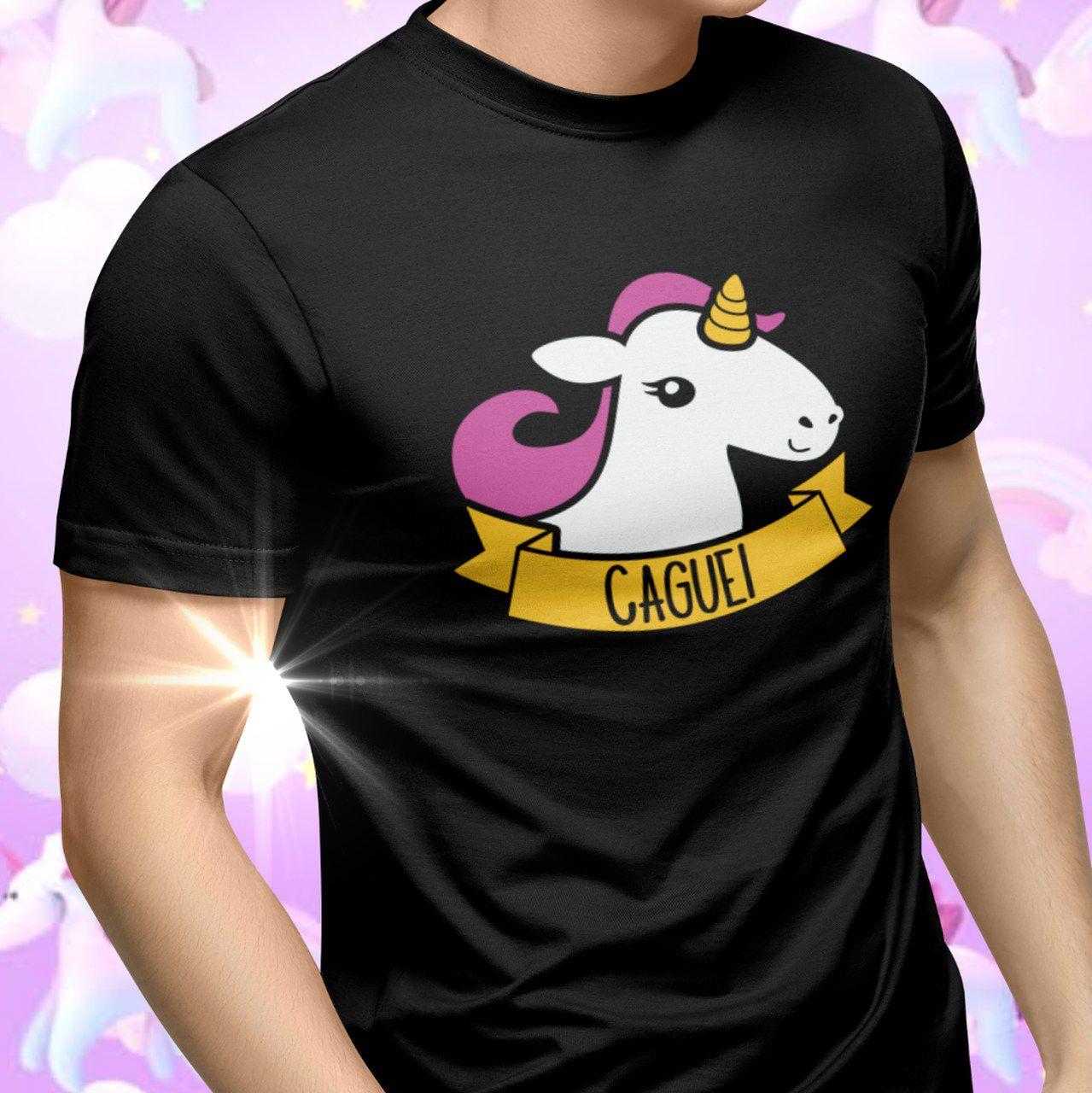 """Camiseta """"Unicórnio - Caguei"""""""