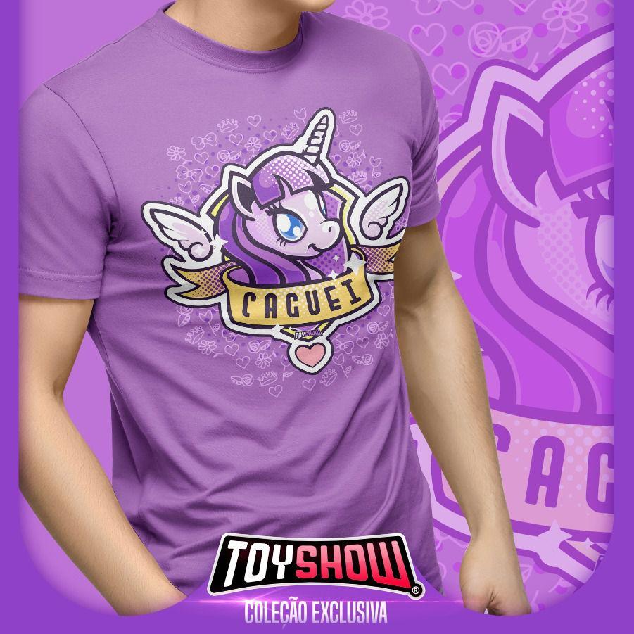 "Camiseta PowerFun (Unicórnio) ""Caguei"" - Exclusiva Toyshow"