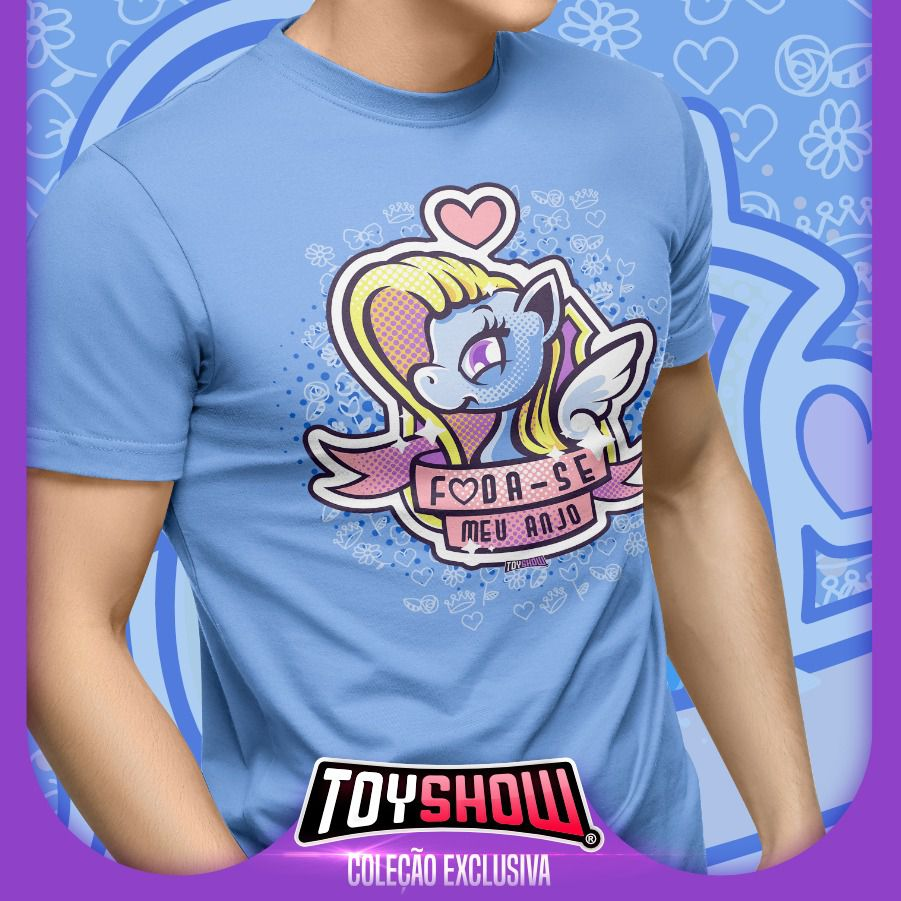 """Camiseta PowerFun (Unicórnio) """"Foda-se Meu Anjo"""" - Exclusiva Toyshow"""