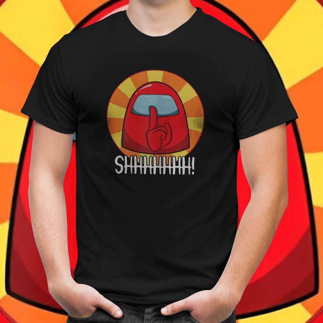 """Camiseta Unissex Among Us """"Shiiii"""" (Preto) -EV"""