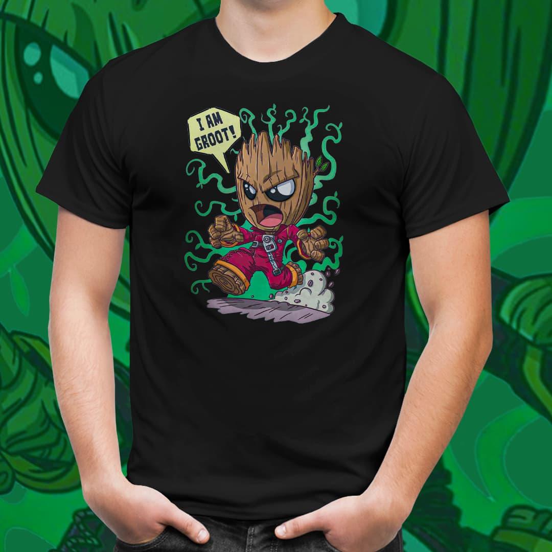Camiseta Unissex Baby Groot: Os Guardiões da Galáxia - Marvel (Preto) - EV