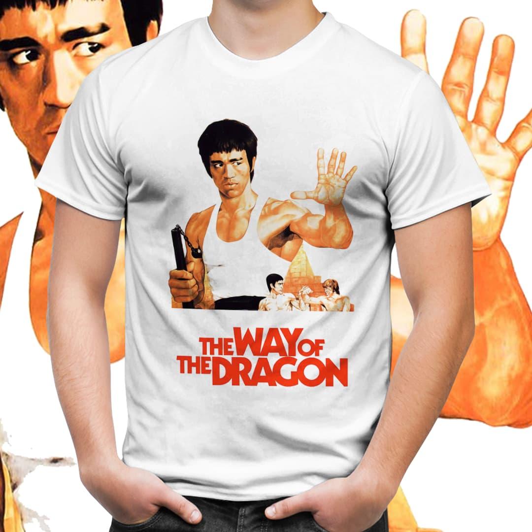 "Camiseta Unissex Bruce Lee ""Be Water"" (Preto) - EV"