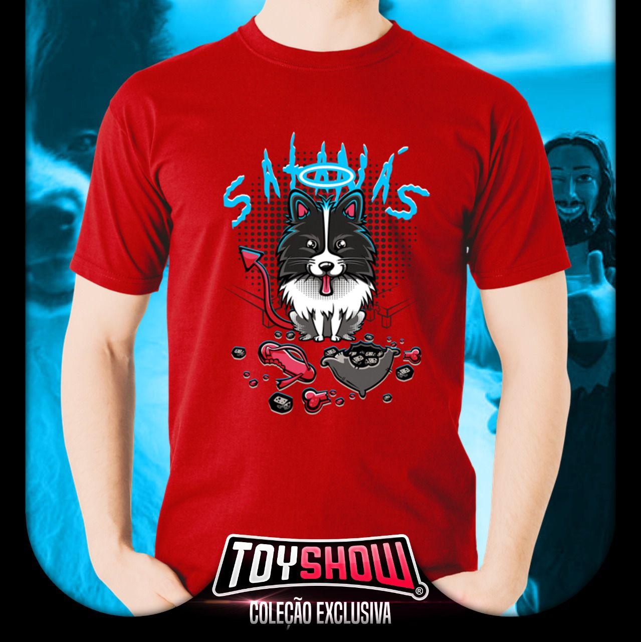 Camiseta Unissex Cachorro Cachorrinho Satanás Tamanho G