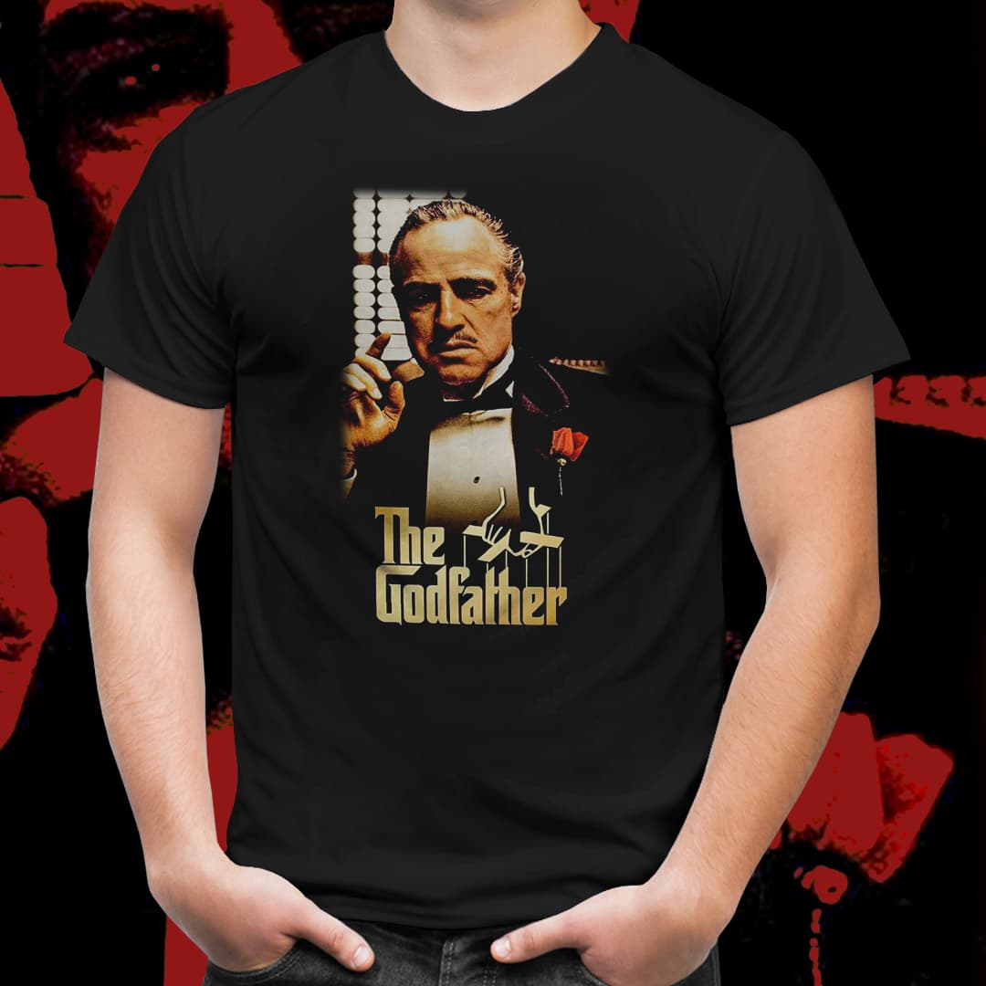 Camiseta Unissex Cartaz Don Corleone: O Poderoso Chefão (Preto) - EV