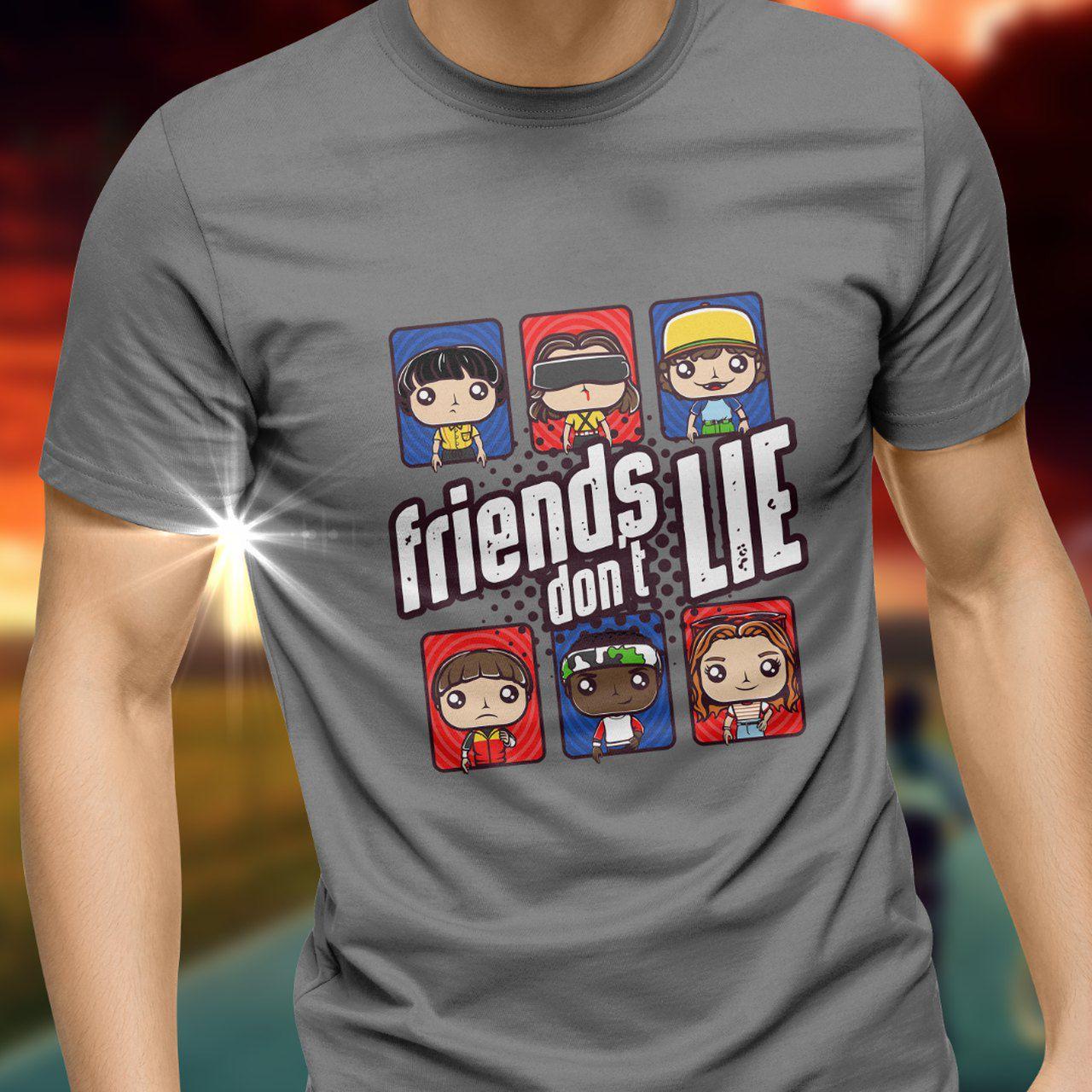 Camiseta Unissex Friends Don't Lie: Stranger Things Tamanho G
