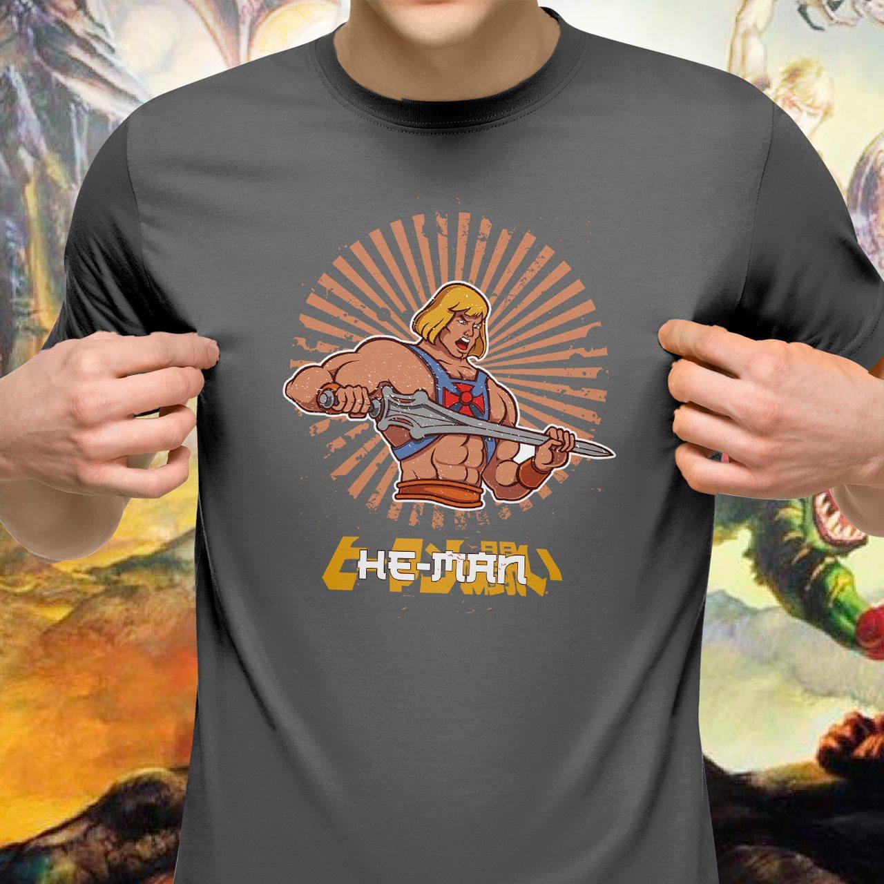 Camiseta Unissex He-Man: Mestres do Universo (Masters of the Universe)