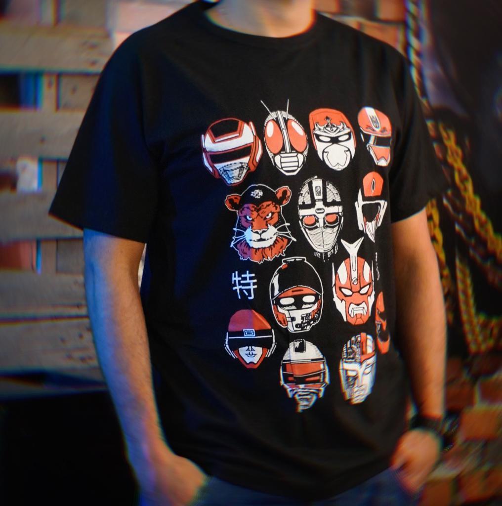 Camiseta Unissex Herois Hero Tokusatsu Tamanho 16
