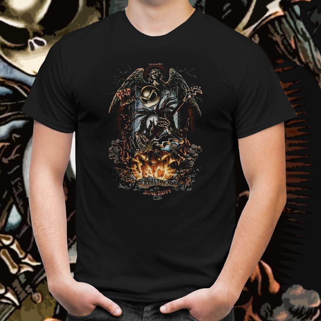 Camiseta Unissex Jack O Rei do Rock: O Estranho Mundo de Jack (Preto) - EV