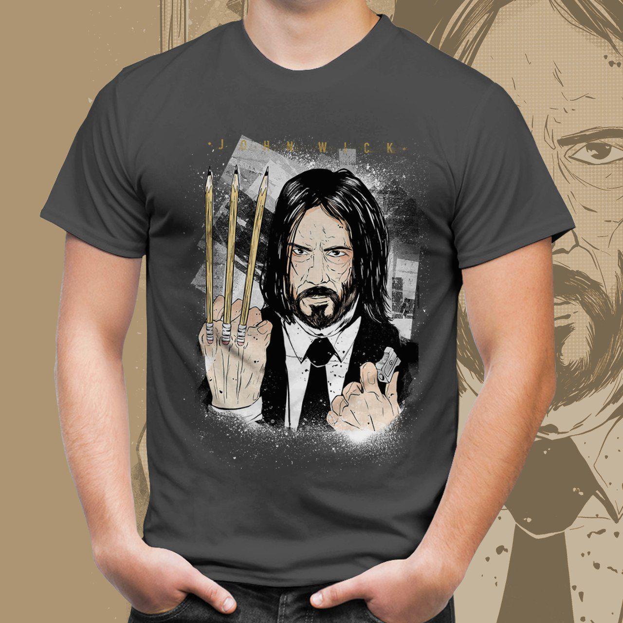Camiseta Unissex John Wick (Cinza): John Wick