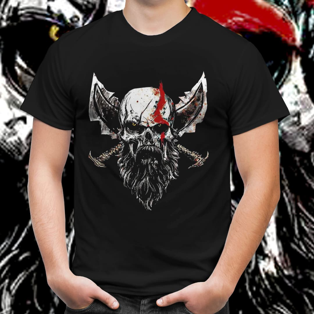 Camiseta Unissex Kratos: God of War (Preto) - EV