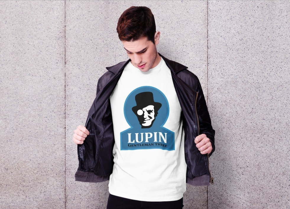 Camiseta Unissex Lupin Arsene: Ladrão de Casaca Netflix (Branca) - EV
