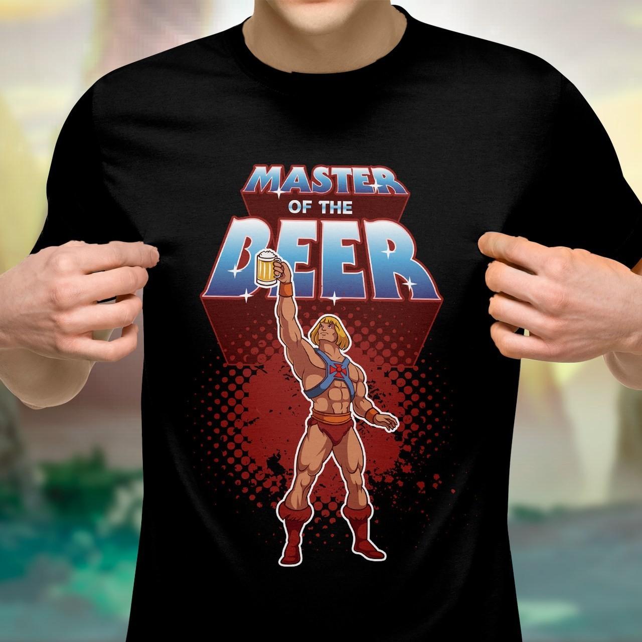 Camiseta Unissex: Mestre da cerveja (Master of The Beer): He-Man