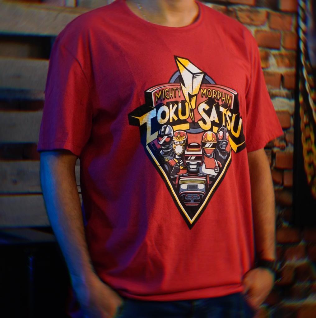 Camiseta Unissex Mighty Morphin Tokusatsu Tamanho GG