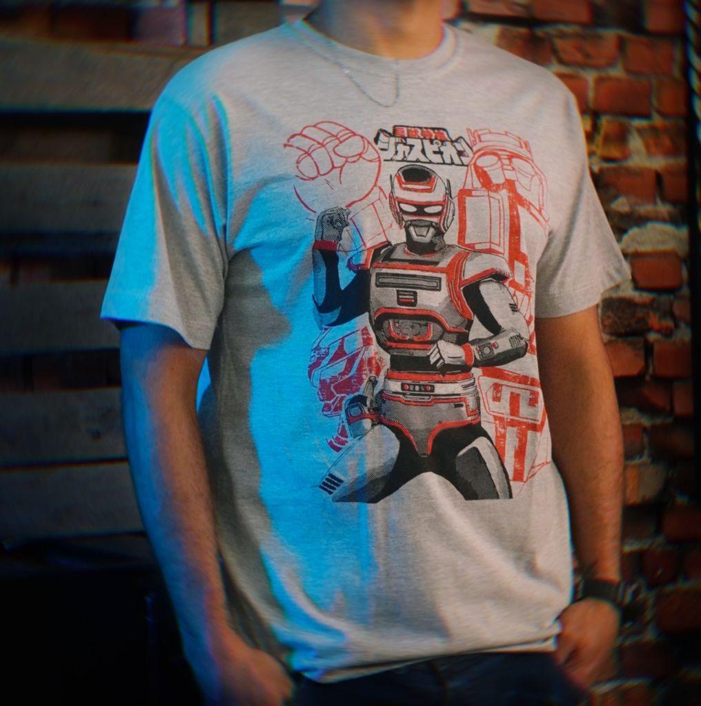 Camiseta Unissex O Fantástico Jaspion Metal Hero Tokusatsu Tamanho 16