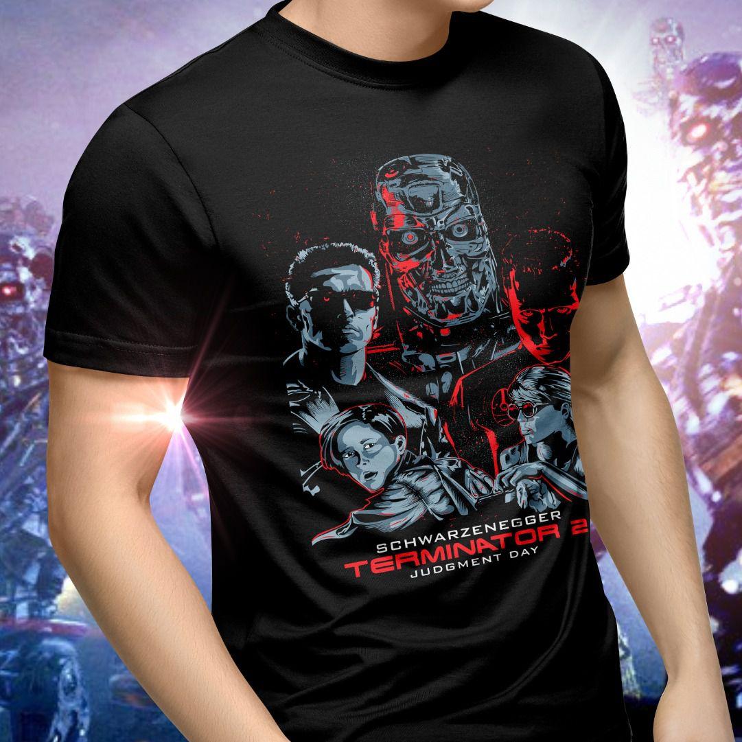 Camiseta Unissex Personagens: O Exterminador do Futuro 2 (Terminator 2)