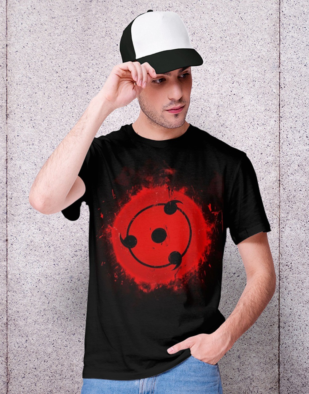 Camiseta Unissex Sharingan Família Uchiha: Naruto Shippuden (Preta) - EV