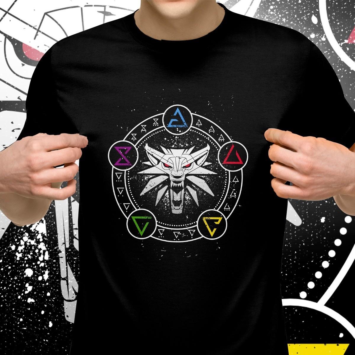 Camiseta Unissex Sinais De Bruxo: The Witcher Tamanho 16