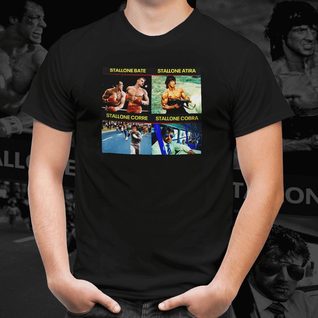 Camiseta Unissex  Sylvester Stallone Versátil -