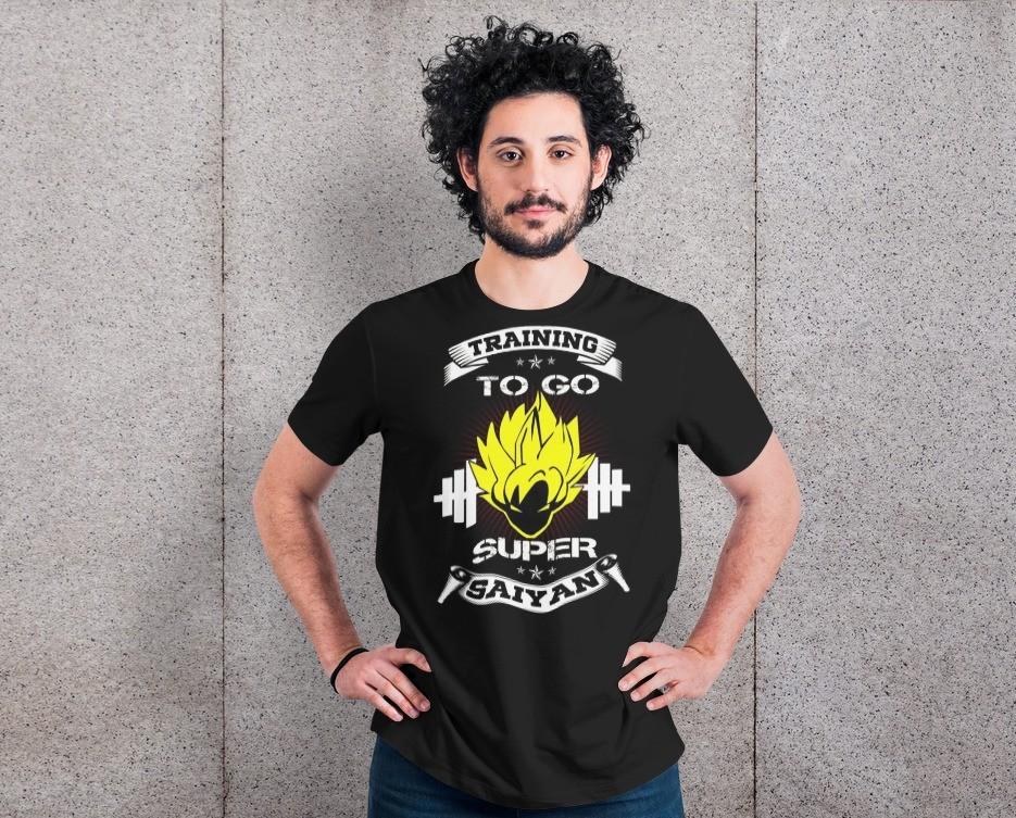 Camiseta Unissex ''Training To Go Super Saiyan'' Dragon Ball Z (Preta) - EV
