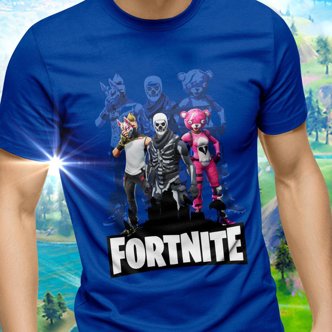 Camiseta Unissex Trio: Fortnite Tamanho P