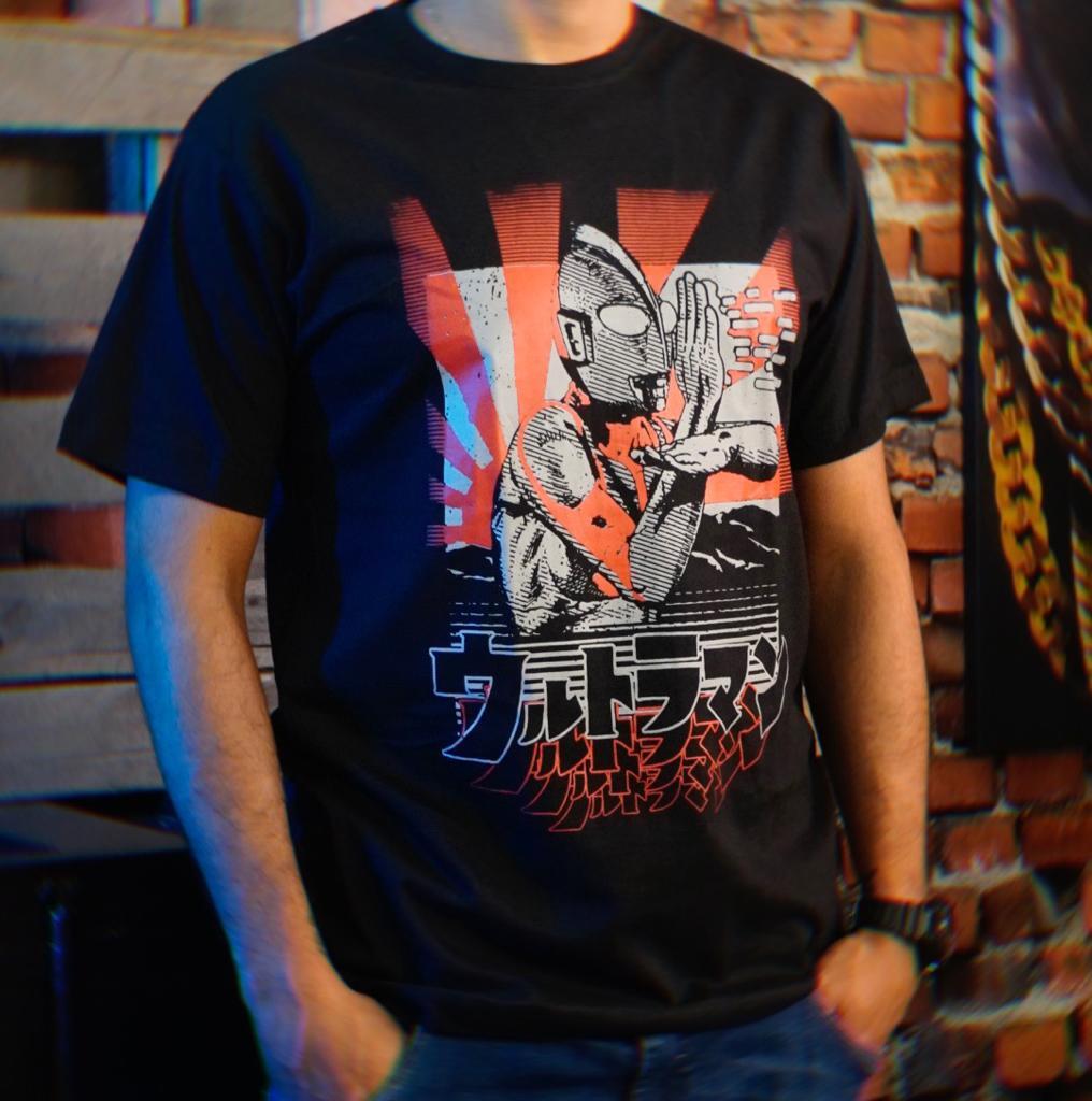 Camiseta Unissex Ultraman Classico 1966 Tokusatsu Tamanho M