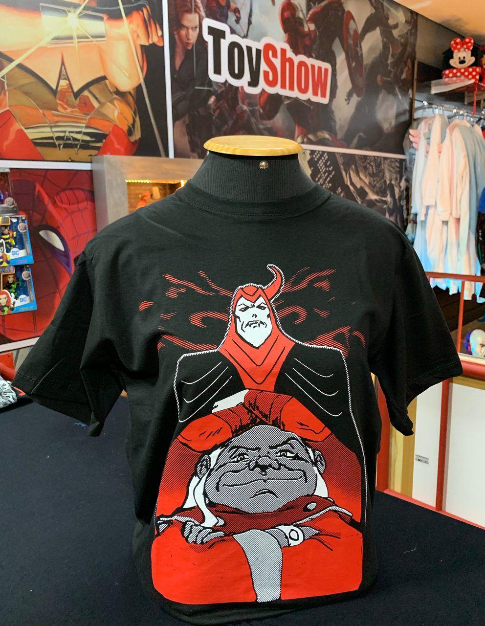 Camiseta Vingador e Mestre dos Magos: Caverna do Dragão