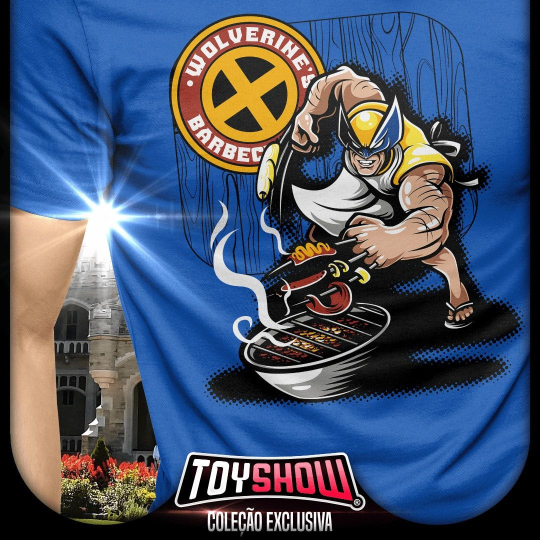 Camiseta Wolverine Barbecue: Marvel - Exclusiva Toyshow