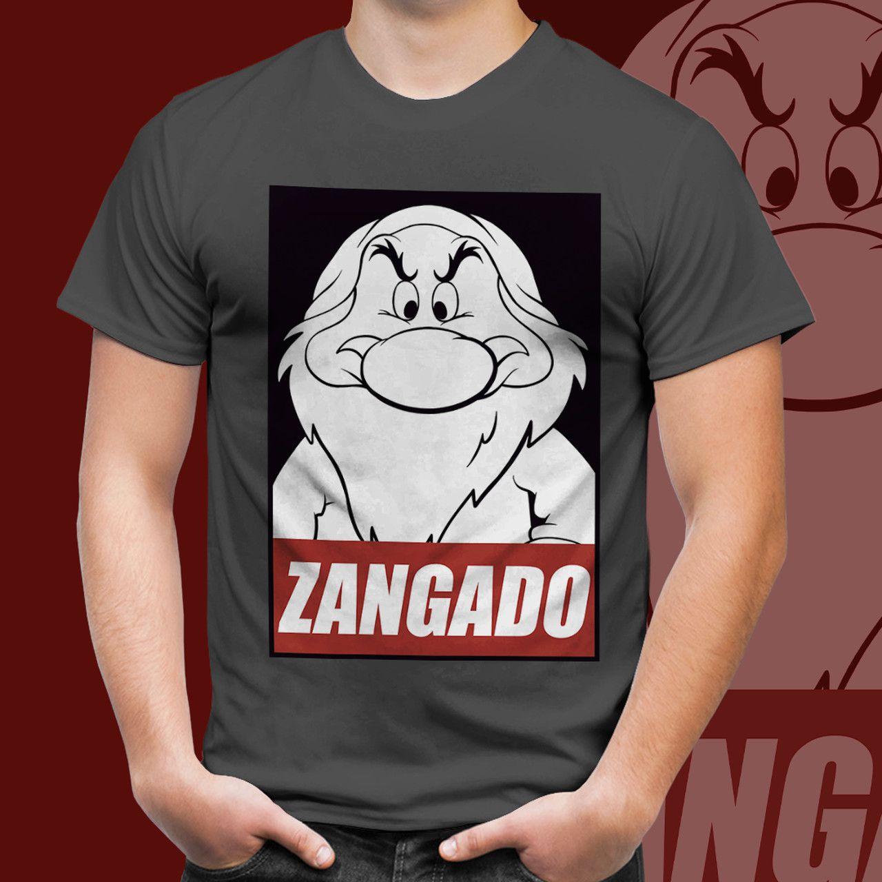 Camiseta Unissex Zangado (Grumpy): Branca de Neve e os Sete Anões (Snow White and the Seven Dwarfs)