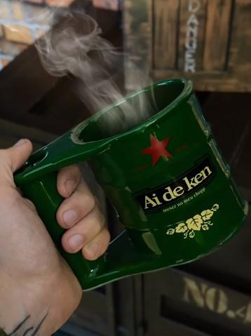Caneca 3D Ai De Ken Mexer No Meu Chopp Tambor Barril Latão Heineken